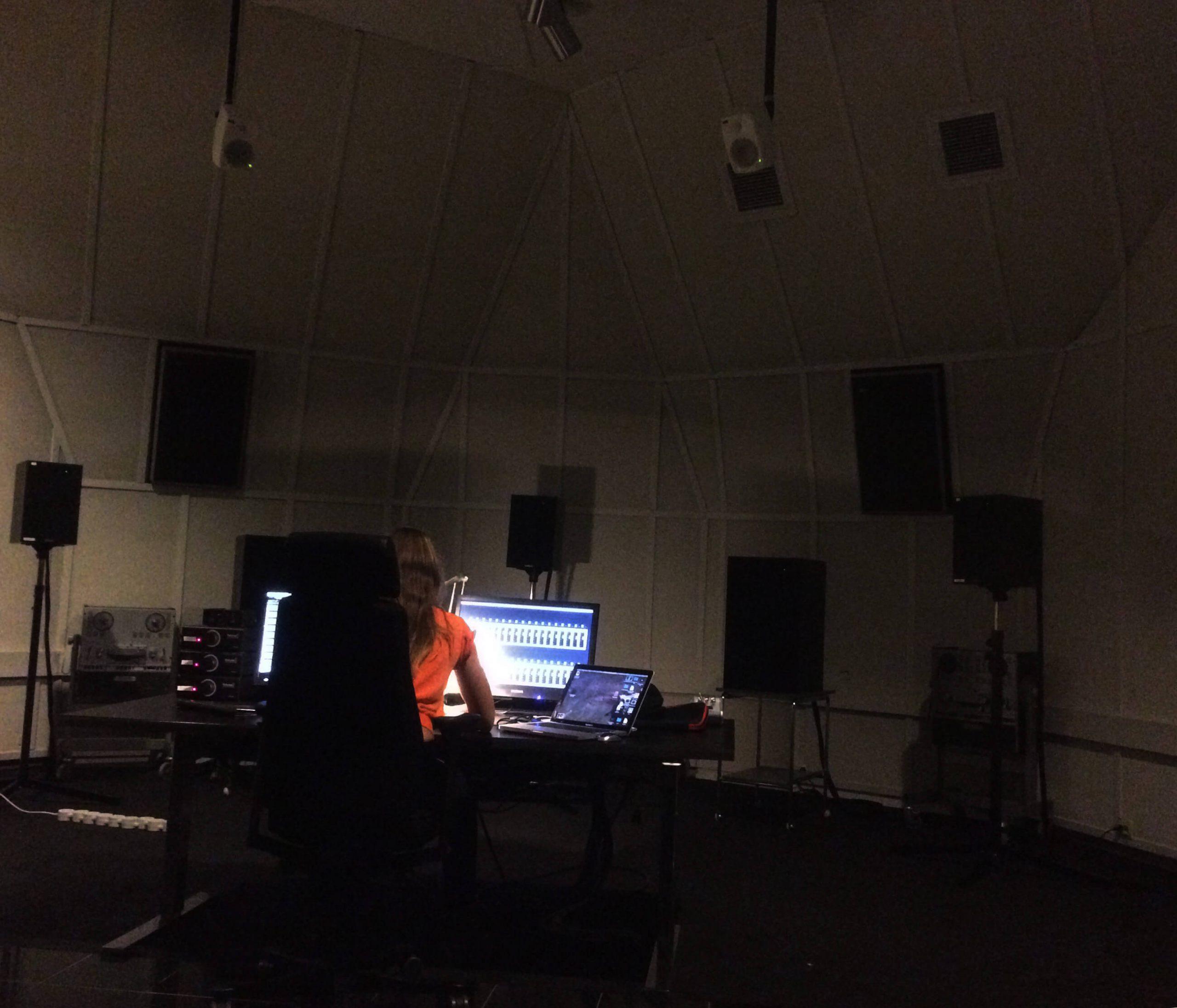 Aurélie at EMS (Elektronmusikstudion)