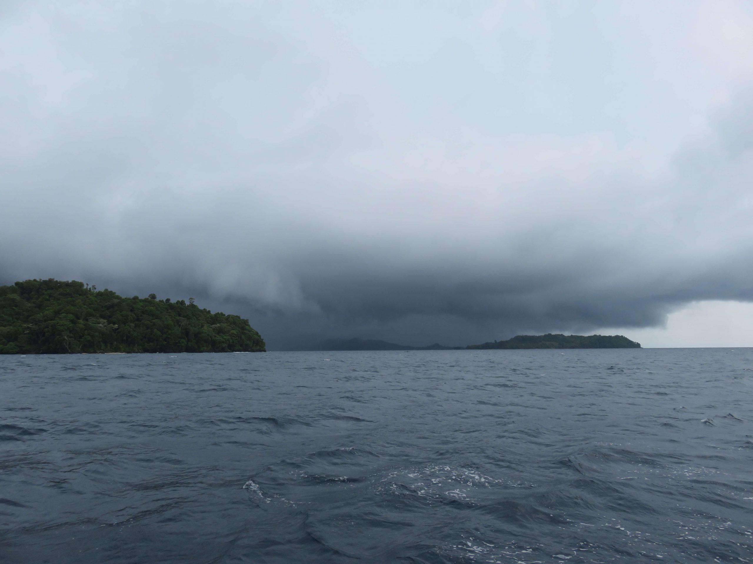 Storm falling on Fonokabai Island
