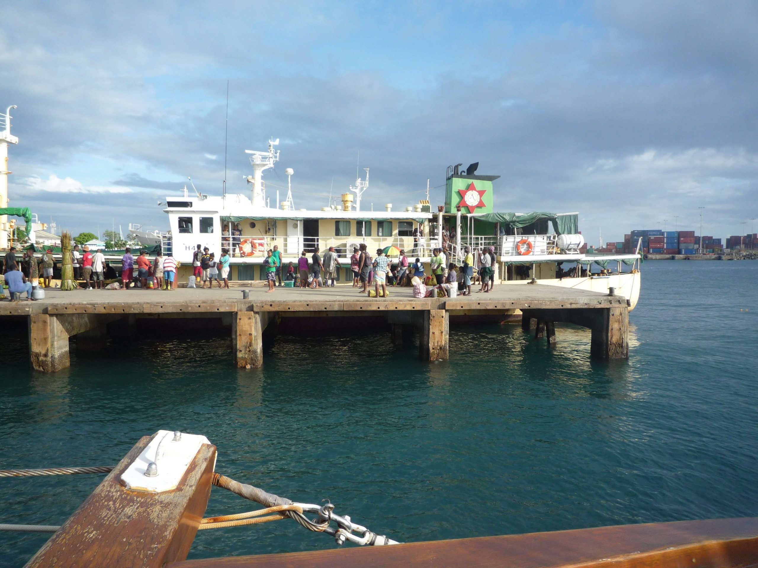 Leaving Honiara