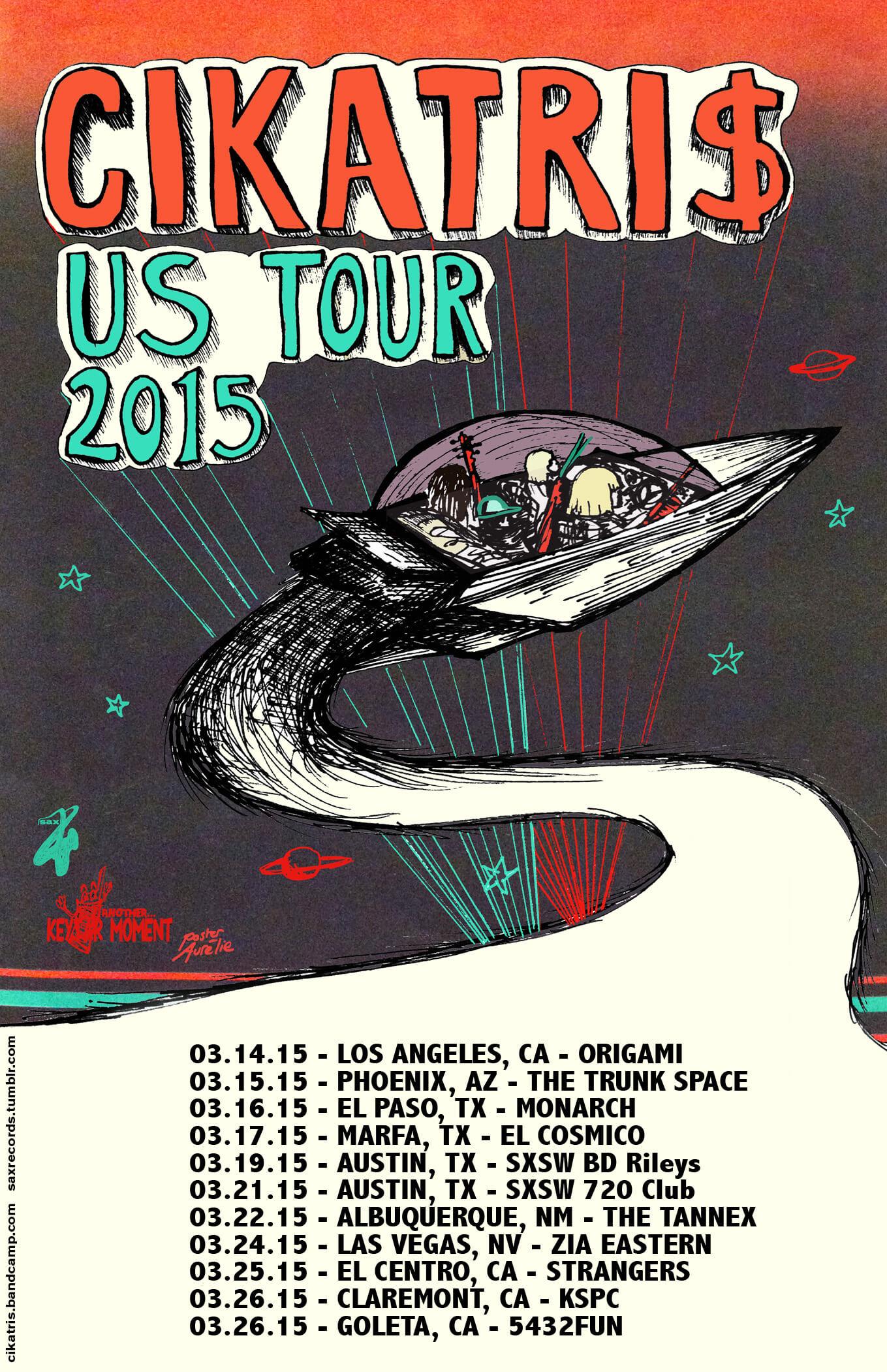 Poster CIKATRI$ US tour SXSW 2015