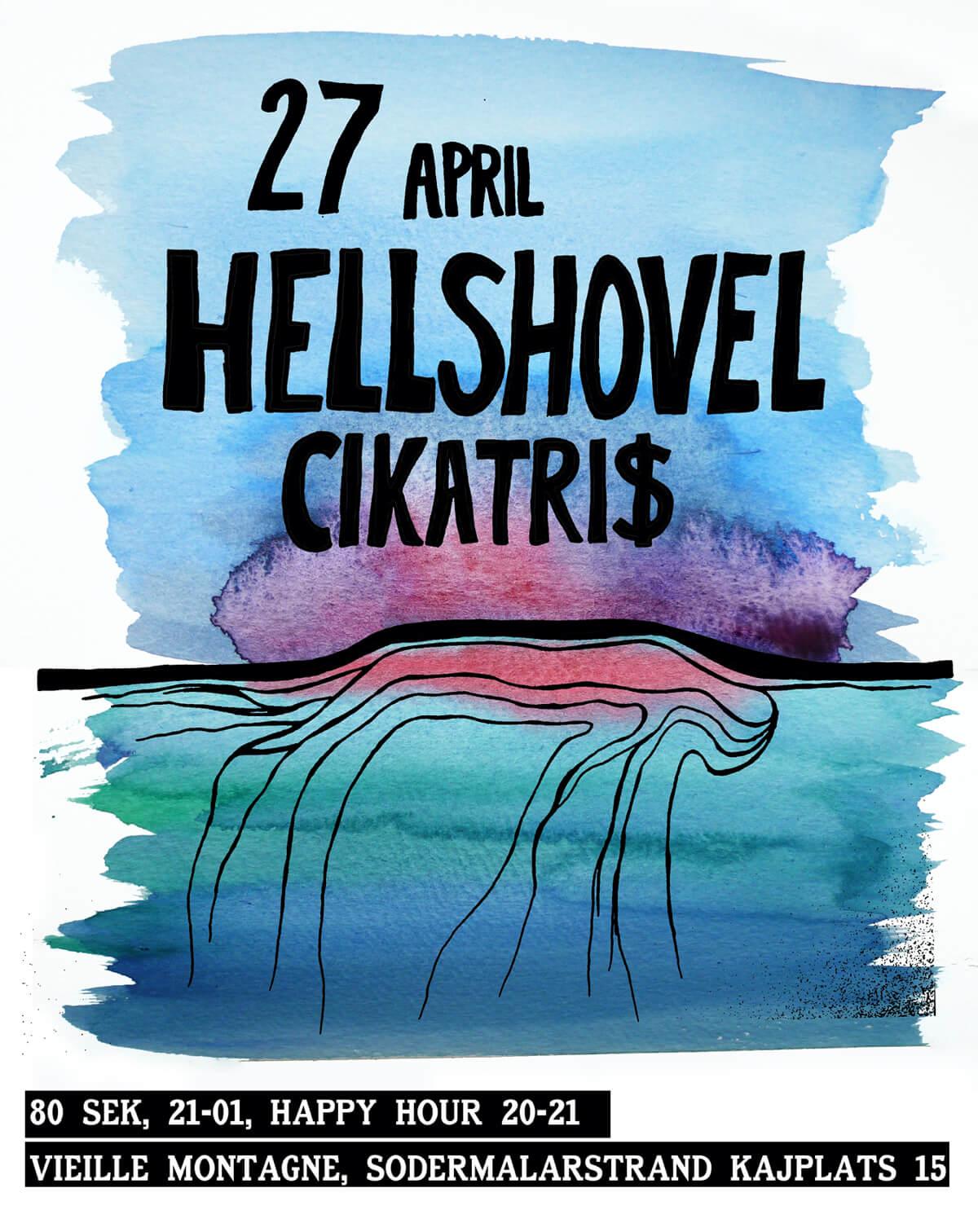 Poster hellshovel CIKATRI$