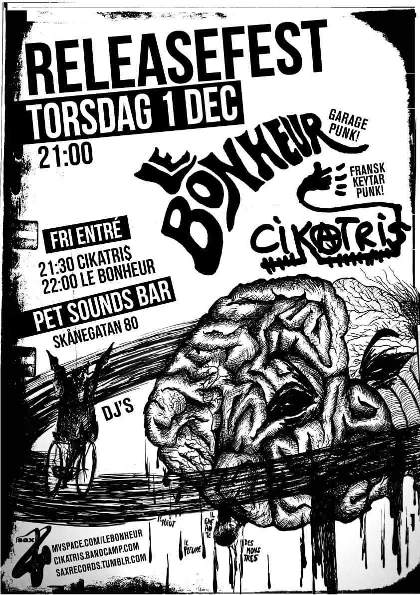 Poster Releasefest Sax Records 2011